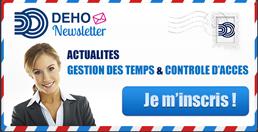 inscrivez-vous à la newsletter DEHO SYSTEMS