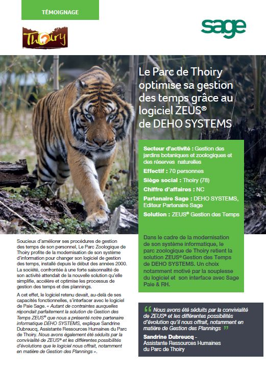 Témoignage client Parc de Thoiry