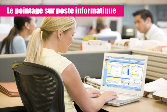 Pointeuse virtuelle sur ordinateur