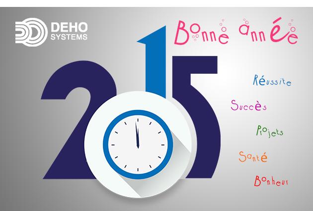 Meilleurs voeux 2015 de la part de toute la société DEHO SYSTEMS
