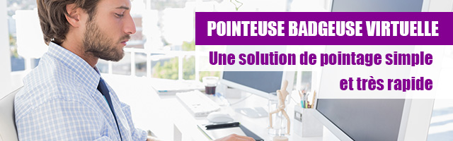 Pointeuse virtuelle PC et ordinateur