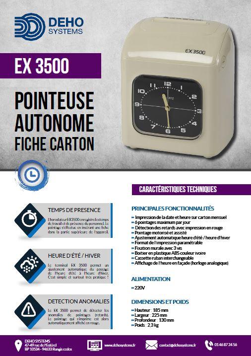 Pointeuse à fiches carton EX 3500