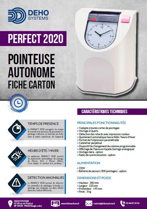 Pointeuse à fiches carton Perfect 2020
