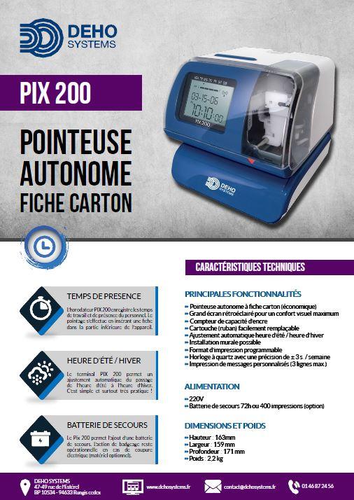 Pointeuse à fiche carton Pix 200