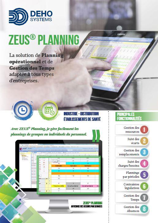 Logiciel gestion de Planning ZEUS de DEHO SYSTEMS