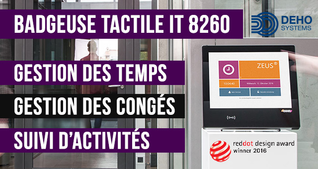 Pointeuse badgeuse tactile IT 8260 - gestion des temps