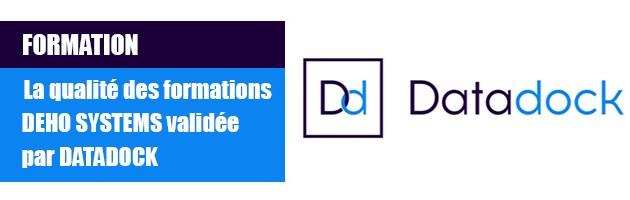 DataDockreconait la qualité des formations DEHO SYSTEMS