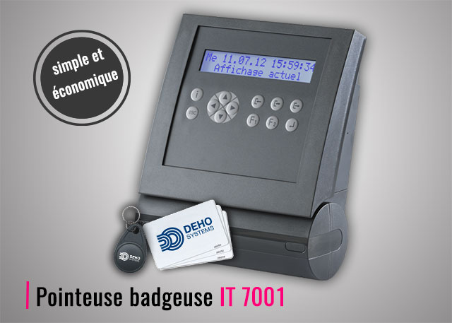 Pointeuse badgeuse RFID IT 7001