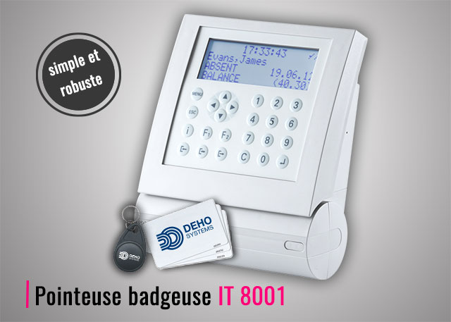 Pointeuse badgeuse RFID IT 8001