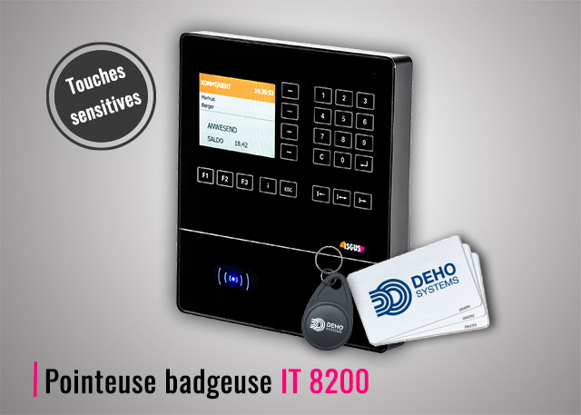 Pointeuse badgeuse RFID IT 8200