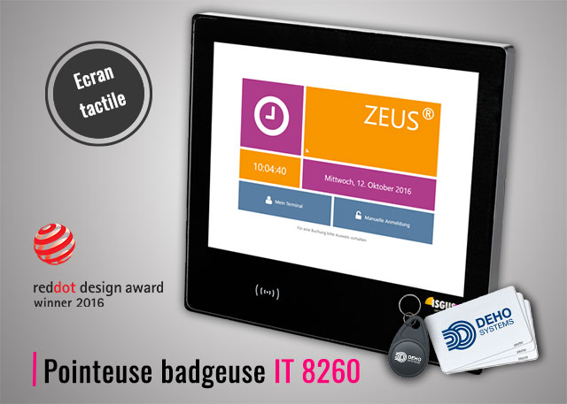 Pointeuse badgeuse RFID IT 8260