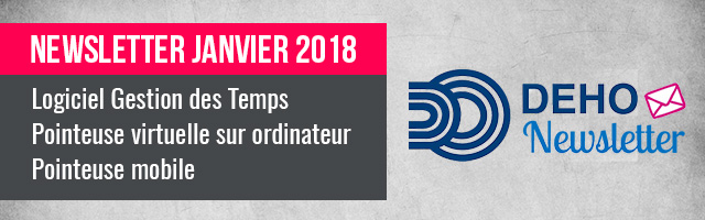 Newsletter DEHO SYSTEMS - Janvier 2018