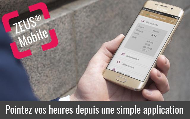 Pointeuse mobile avec pointage sur smartphone