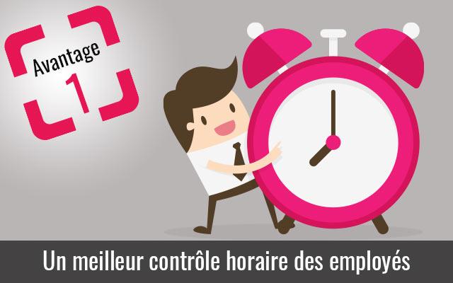 La pointeuse meilleur controle horaire des employés