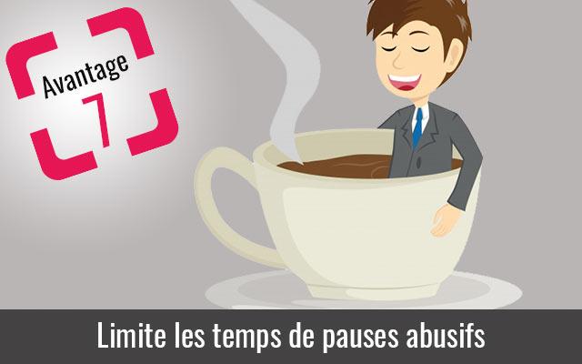 La pointeuse limites les temps de pauses abusifs