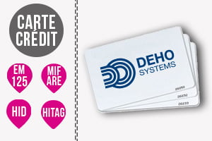 Badge RFID carte pour pointeuse badgeuse