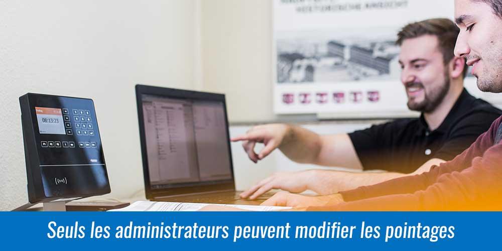 Modification et ajout de pointage à la main dans logiciel de gestion des temps