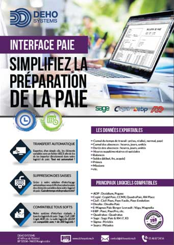Plaquette interface paie deho systems pdf