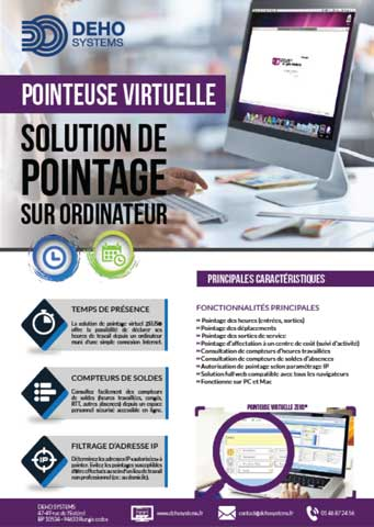 Plaquette pointeuse virtuelle deho systems pdf