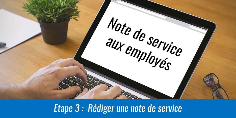 Rédiger une note de service aux employés